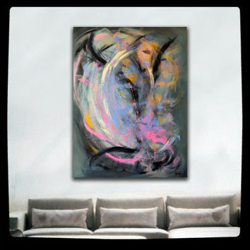 Abstract Painting  XL WALL ART, Large Original Contemporary Abstract Art on Canvas 30x40 Title: A Passing Storm