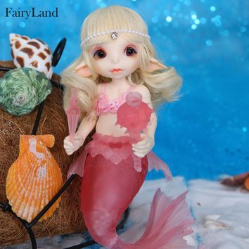 Free Shipping Realfee Mari BJD Doll 1/7 Little Mermaid Fantastic Ball Jointed Dolls Toy For Children Unique Gift Fairyland