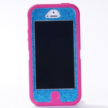 Otterbox iPhone 5 Case Custom Glitter Pink/Peacock Defender Series Case Cover iPhone 5 Otterbox