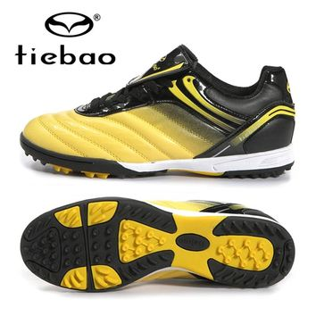 TIEBAO Professional Futsal Soccer Shoes Outdoor Sport Men Women Soccer Football Shoes TF Turf Brand Sneakers