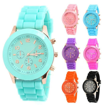 New Unisex Women Mens Boys Girls Geneva Silicone Jelly Sports Quartz Wrist Watch = 1946388356