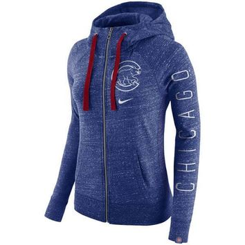Chicago Cubs Women's Zip Up Hoodie