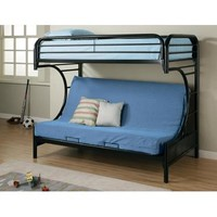 """Coaster """"C"""" Style Bunk Bed And Futon In Black"""