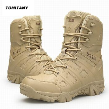 Trekking Hiking Shoes Men Outdoor Waterproof Camping Hunting Mountain Climbing Sneakers Man Military 511 Tactical Boots Male