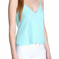 Brie Mint Halter Top-FINAL SALE
