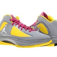 Nike Jordan Kids Jordan Aero Flight (GS) Stealth/White/Rv Pink/Atmc Grn Basketball Shoe 7 Kids US