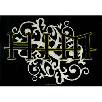 HIM - Gold & Silver Logo Tapestry