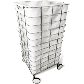WR 1 Rolling Hamper Round Laundry Basket with Removable Washable Laundy Bag