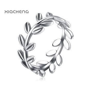 2016 100% 925 sterling Silver Women Wedding Rings with Full Leaves Ring Fit Pandora Wo