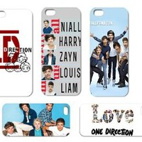 front and back full cover cases!!5pc 2013 newest Unique Super Star One Direction 1d Hard Case Protective Cover for Apple Iphone 5 5th 5g-1DI55P01