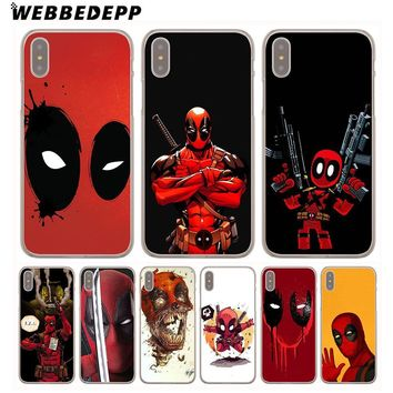 Deadpool Dead pool Taco WEBBEDEPP Marvel  Comic Spiderman Hard Phone Case for iPhone X XS Max XR 7 8 6S Plus 5 5S SE 5C 4 4S Cover AT_70_6