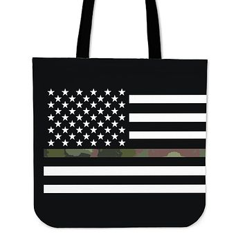 Camo American Flag Cloth Tote Bag - PROMO