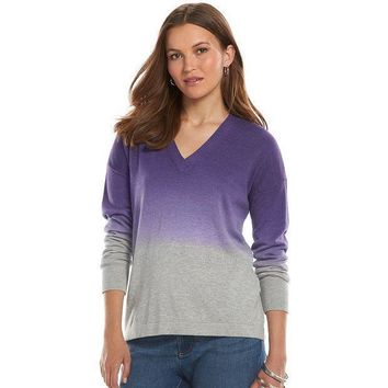 Chaps Dip Dye Sweater   Women's Size: