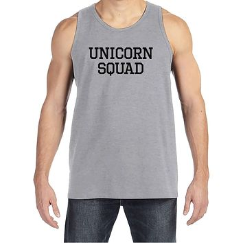 Men's Funny Shirt - Unicorn Squad - Funny Mens Shirts - Unicorn Shirt - Grey Tank Top - Gift for Him - Funny Gift Idea for Boyfriend