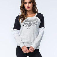Fox Cohesion Womens Sweatshirt Light Gray  In Sizes