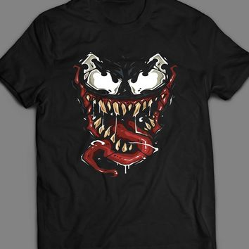 MARVEL'S VENOM FACE COMIC ART T-SHIRT