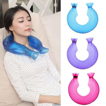 Medical High Density Injection U -type Transparent PVC Safety Explosion-proof Hot Water Bottle HAND/Neck Warmer Massage GIFTS s4