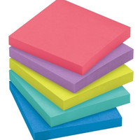 Post-it Super Sticky Notes, 3 x 3-Inches, Jewel Pop Collection, 10-Pads/Pack