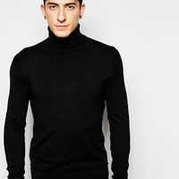 Sisley Knitted Roll Neck at asos.com