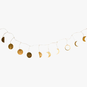 Brass Moon Garland