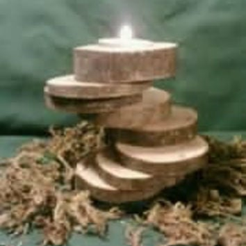 Tealight Candle Holder Rustic Log Ninetiered by DeerwoodCreekGifts
