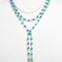 BaubleBar Oralia Layered Y-Chain Necklace | Nordstrom