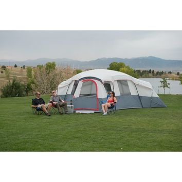 12-20 Person Camping Hiking Fishing Outdoor Family Easy Setup Cabin 4 Room Tent