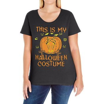 this is my halloween costume Ladies Curvy T-Shirt