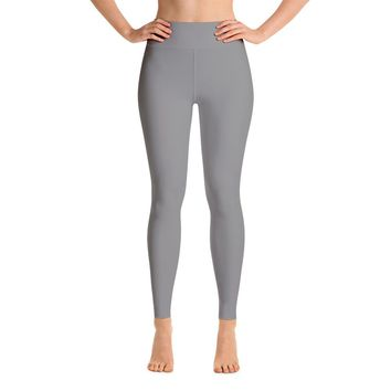 Solid Gray Yoga Leggings