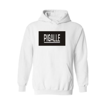 Street PIGALLE A $ AP Rocky HBA PYREX men and women Hooded sweater coat cool White