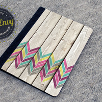 Wood Chevron Pattern iPad 2/3/4 Folio Case
