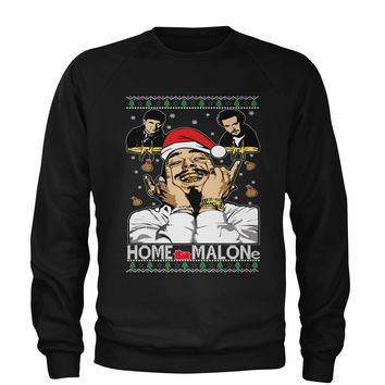 Home Malone Ugly Christmas Adult Crewneck Sweatshirt