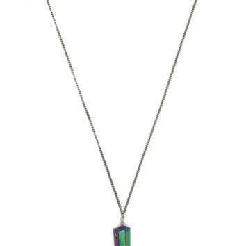 Longline Faux Stone Necklace | Forever 21 - 1000222269