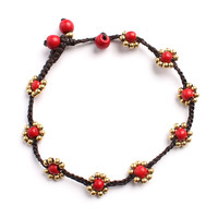 Sweet Flower Bead Bracelet