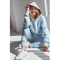 Champion Fashion Sport Hoodie Drawstring Top Sweater Sweatshirt Light blue
