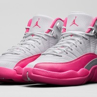 Girls' Air Jordan 12 Retro 'Vivid Pink'