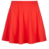 Teens Red Jersey Skater Skirt