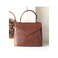 Ferragamo Brown Leather Tote bag vintage authentic handbag