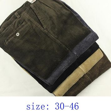 new arrival Autumn winter thick  high waist obese corduroy loose cotton trousers casual pants plus size 30 -  36 38 40 42 44 46
