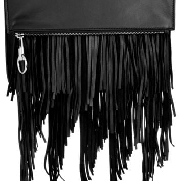 Elizabeth and James - Andrew fringed leather clutch