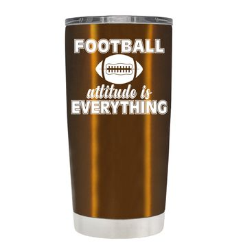 TREK Football Attitude is Everything on Copper 20 oz Tumbler Cup