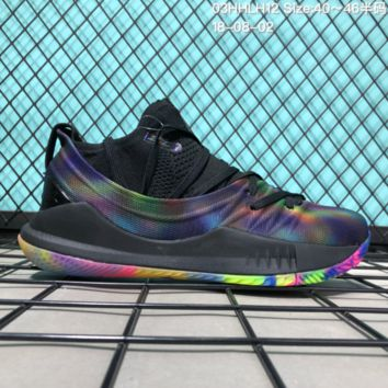 HCXX B307 Under Armour Curry 5 Actual Combat Basketball Shoes Black Colourful