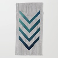 Blue Arrow Beach Towel by LouJah