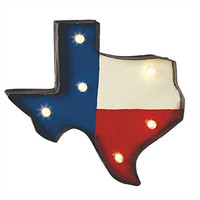 Texas - LED Illuminated Marquee Sign - Red White Blue Americana Patriotic