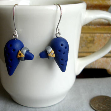 GUO GUO'S- Handmade Polymer Clay The Legend of Zelda Ocarina of time Earrings, made to order