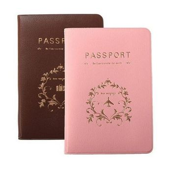 PEAPU3S 1PC Women Men Passport Cover PU Leather ID Card Bag Note Holder Pouch Package Holder For Travel Accessories 2 Colors