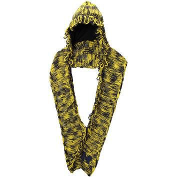 Michigan Wolverines adidas Women's Hooded Scarf - Maize