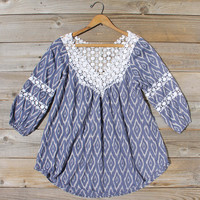 Sugared Breeze Blouse in Midnight Ikat