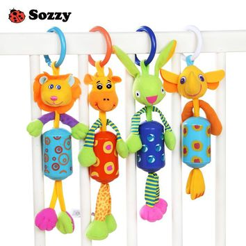 Sozzy Wind Chime Cute Animal Infant Baby Soft Crib Toy Stroller hanging Bell Rattle Mobiles for Baby Crib Newborns Children Gift