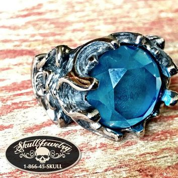 Tangled Up In Blue - Stainless Steel Ring (373)